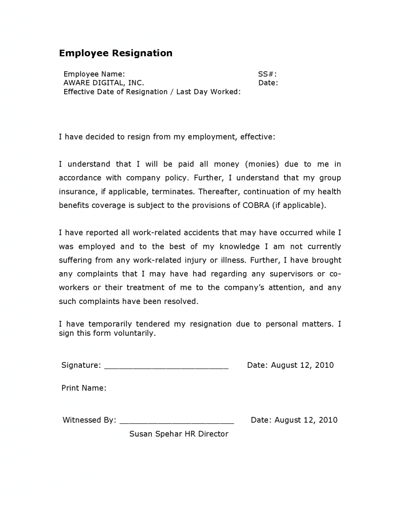 Employee Resignation Form-1